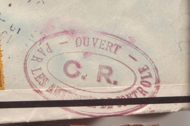 Lettre de Fontaine Denis (Marne) du 30.12.1944 avec censure C.F. cachet du même type que C.J. et C.R. 13000810