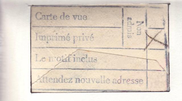 """Cachet en langue française de centre de contrôle de Francfort/M """"e"""". 1a000310"""
