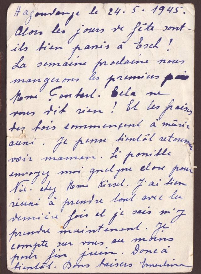 Carte postale de 1945 de la Moselle pour le Gd Duché du Luxembourg avec censure de Paris 2022412