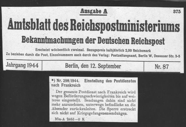 Tarif postal du 25 aout 1944 du Reich vers la France - méconnu des guichetiers et du peuples ?? 2023011