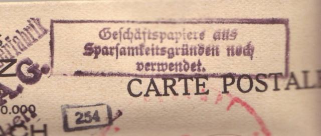 Cachet justifiant l'emploi de documents en langue française sur courrier alsacien 3000210