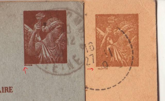 Les Cartes Postales familiales Interzones - Type Iris sans valeur - 1° modèle septembre 1940. 3000211