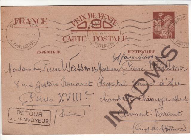 Note E.P.1 du 04.12.1940 relative au contrôle à exercer sur les Cartes Postales familiales (Interzone) 3001910