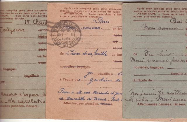 Les Cartes Postales familiales Interzones - Type Iris sans valeur - 1° modèle septembre 1940. 3_10