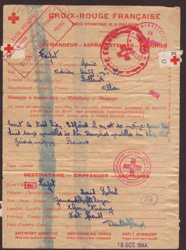 Tarif postal du 25 aout 1944 de la France vers le Reich - méconnu des guichetiers et du peuple ?? 4001910