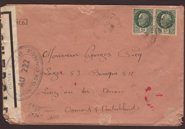 Tarif postal du 25 aout 1944 de la France vers le Reich - méconnu des guichetiers et du peuple ?? 4002010
