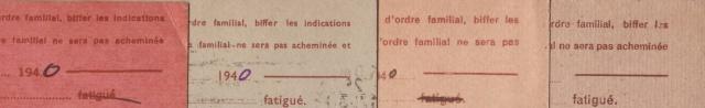 Les Cartes Postales familiales Interzones - Type Iris sans valeur - 1° modèle septembre 1940. 5000110