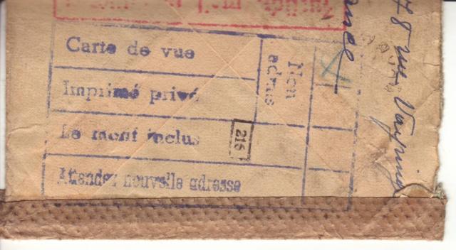 """Cachets """"Non admis"""" sur lettres contrôlées par l'ABP e. 5000810"""