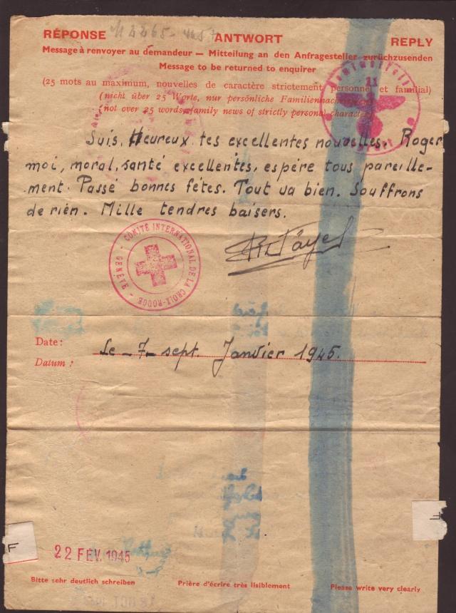 Tarif postal du 25 aout 1944 de la France vers le Reich - méconnu des guichetiers et du peuple ?? 5001610