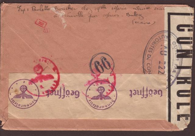 Tarif postal du 25 aout 1944 de la France vers le Reich - méconnu des guichetiers et du peuple ?? 5001810