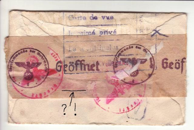 """Cachets """"Non admis"""" sur lettres contrôlées par l'ABP e. 6_110"""