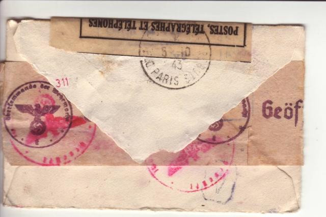 """Cachets """"Non admis"""" sur lettres contrôlées par l'ABP e. 9000610"""