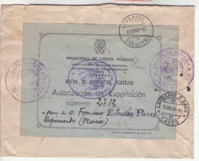 Fiche d'autorisation pour l'exportation de timbres postes en Espagne. _1000012