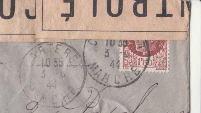 1944 une lettre contrôlée par la censure _1001010