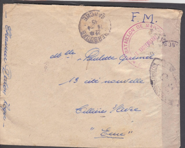 1944 une lettre contrôlée par la censure _1002310
