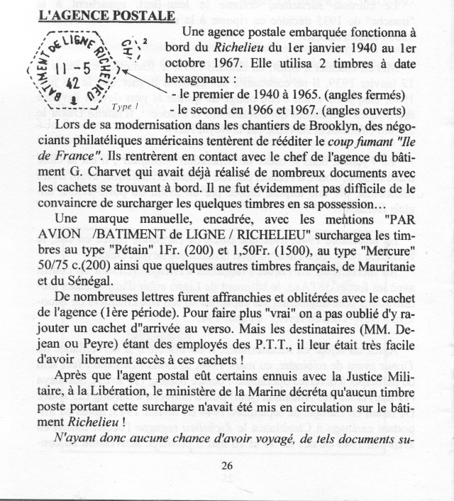 L'agence postale embarquée sur le Richelieu. _110