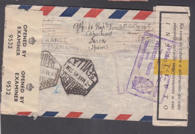 Contrôle des devises du courrier au départ d'Espagne. _1100011