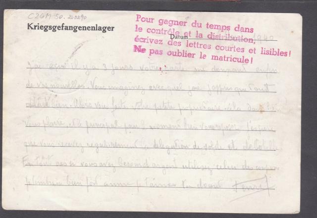 Les cachets UP après l'armistice et jusqu'en novembre 1940 _11910