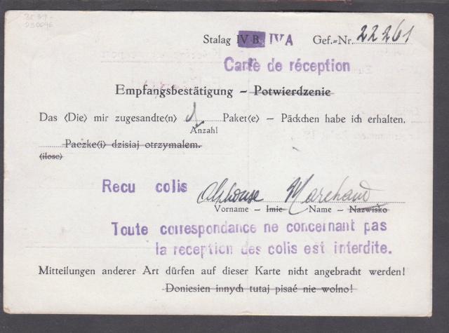 Les cachets UP après l'armistice et jusqu'en novembre 1940 _12110