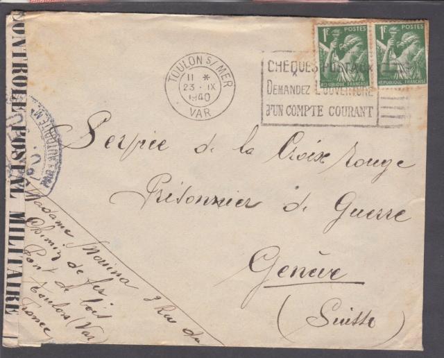 Les cachets UP après l'armistice et jusqu'en novembre 1940 _12210