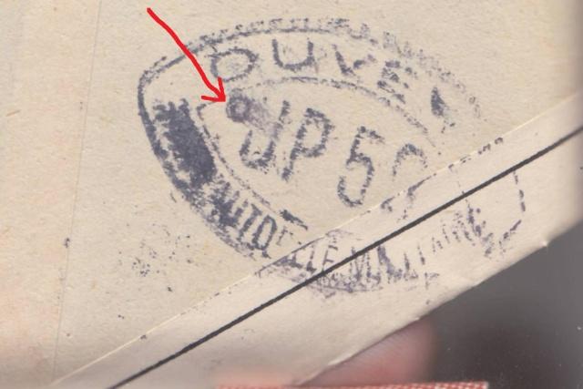 Les cachets UP après l'armistice et jusqu'en novembre 1940 _12410