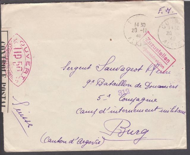 Les cachets UP après l'armistice et jusqu'en novembre 1940 _12510