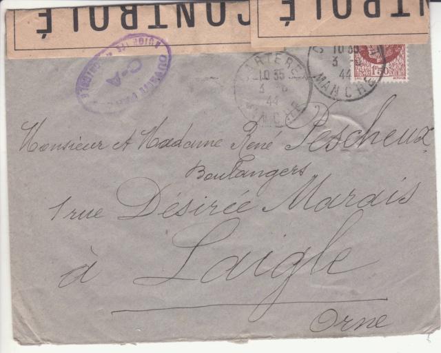 1944 une lettre contrôlée par la censure _2000810