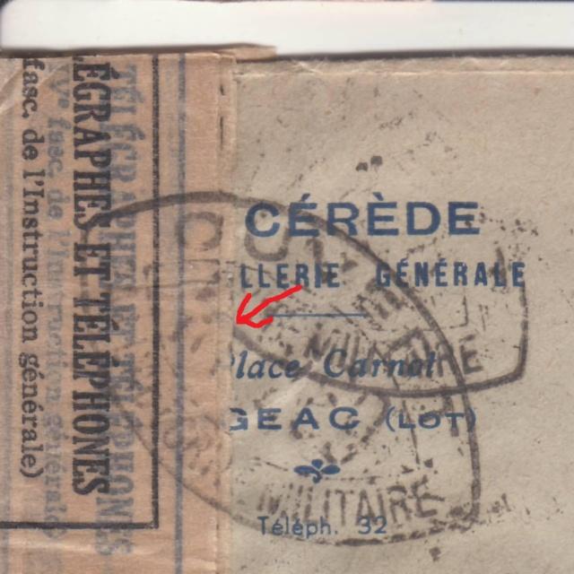 """Bandes de fermeture des PTT utilisées par la commission de Bordeaux """"RA"""". _2001612"""