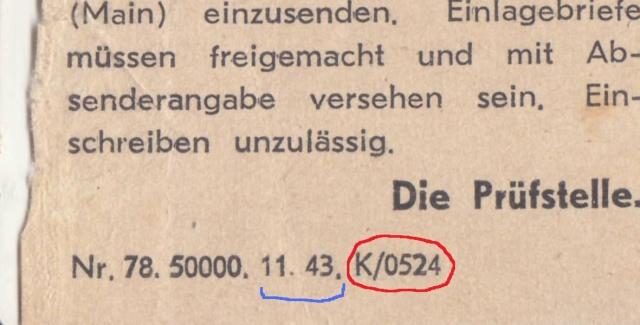 Lettres recommandées en exprès des STO ne sont plus admises temporairement par la censure de Francfort/M (e)  pour la zone sud _2001910