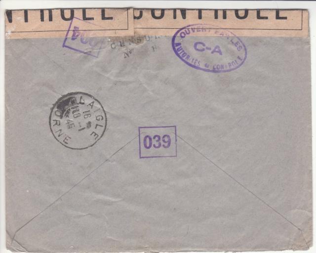 1944 une lettre contrôlée par la censure _3000710