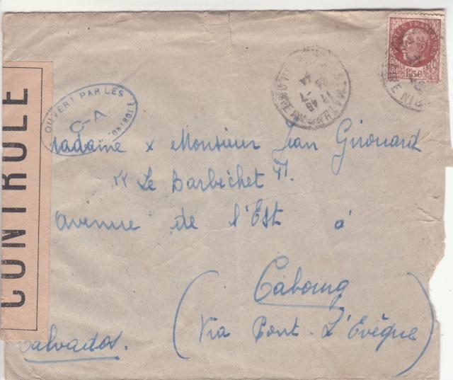 1944 une lettre contrôlée par la censure _4000610