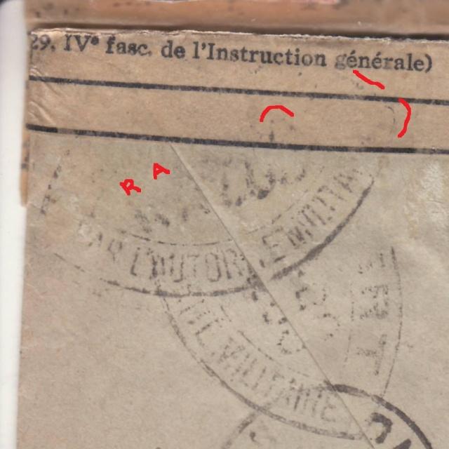 """Bandes de fermeture des PTT utilisées par la commission de Bordeaux """"RA"""". _4001510"""