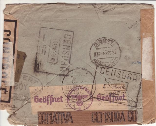 Lettre de Marseille du 20 juillet 1944 pour Madrid, arrivée en septembre 45!! _410