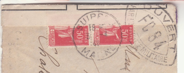 Cachet postal du Suippe (départ) sur bande de fermeture de Chalons sur Marne ?? _6000910