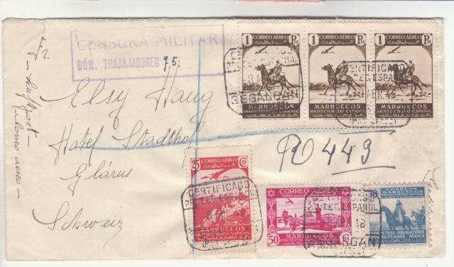 """Censure """" BON. TRABAJADORES """" sur lettre du Maroc Espagnol. _6001810"""
