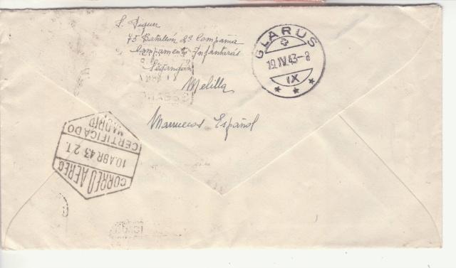 """Censure """" BON. TRABAJADORES """" sur lettre du Maroc Espagnol. _7001610"""