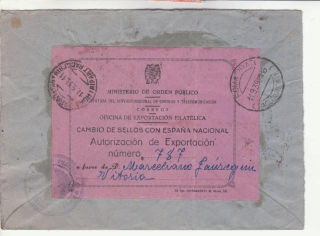 Fiche d'autorisation pour l'exportation de timbres postes en Espagne. _8001210