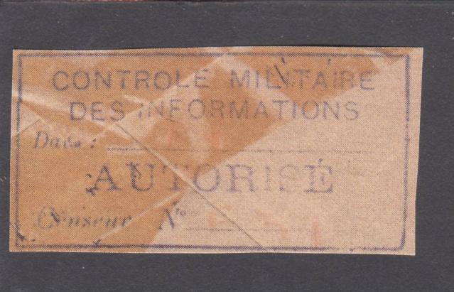 1945 - censure AZ130 contrôle de la presse _9000410