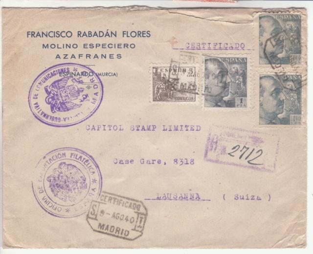 Fiche d'autorisation pour l'exportation de timbres postes en Espagne. _9001010