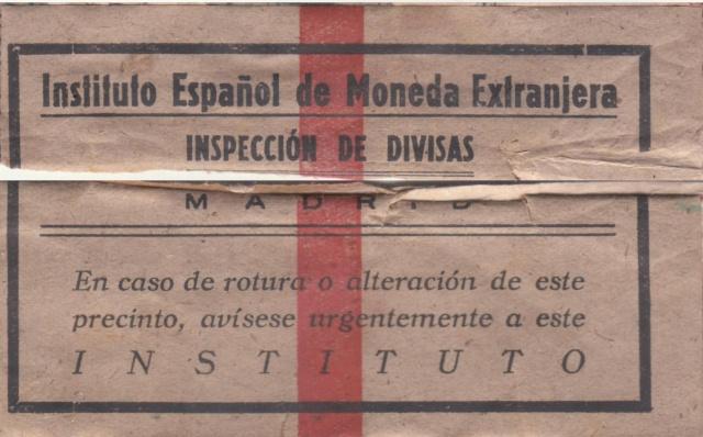 Contrôle des devises du courrier au départ d'Espagne. Bd210