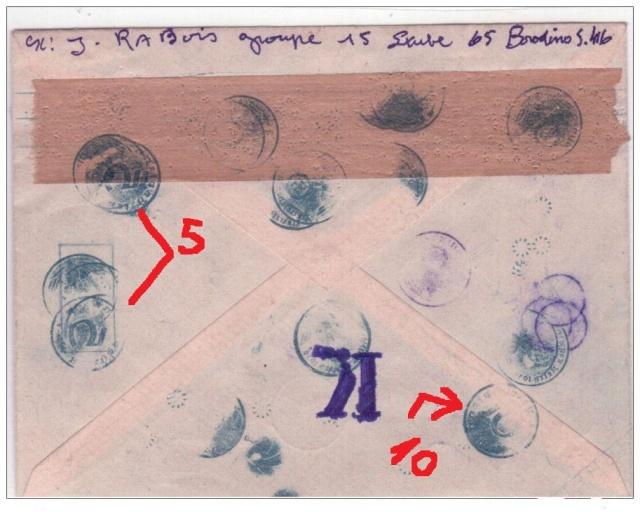 """Serie Borodino sur lettre !! avec de nombreux cachets """" Spectaculaire"""" Boro1_11"""