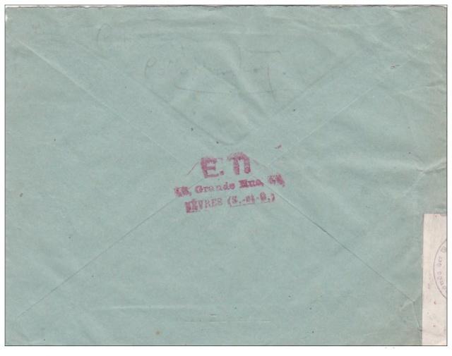 """Lettre affranchie avec des timbres Pétain - le vendeur la signale comme """"SPECTACULAIRE"""" !! Spetac10"""