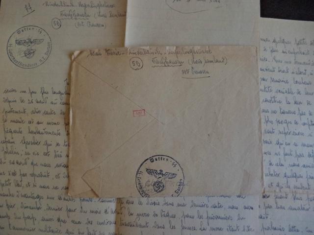 """Cachet """"Waffen SS"""" sur lettre pour Lyon Ss_t10"""