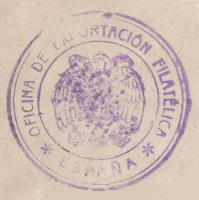 Fiche d'autorisation pour l'exportation de timbres postes en Espagne. St_exp10