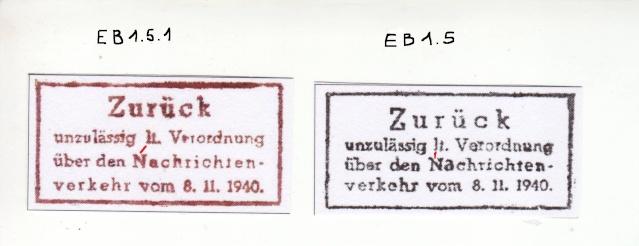"""Cachets """"Non admis"""" sur lettres contrôlées par l'ABP e. X000110"""