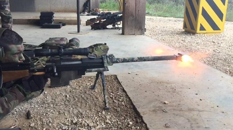 12,7 calibre 50 BMG au camp de Caylus 8° RPIMa Caylus12