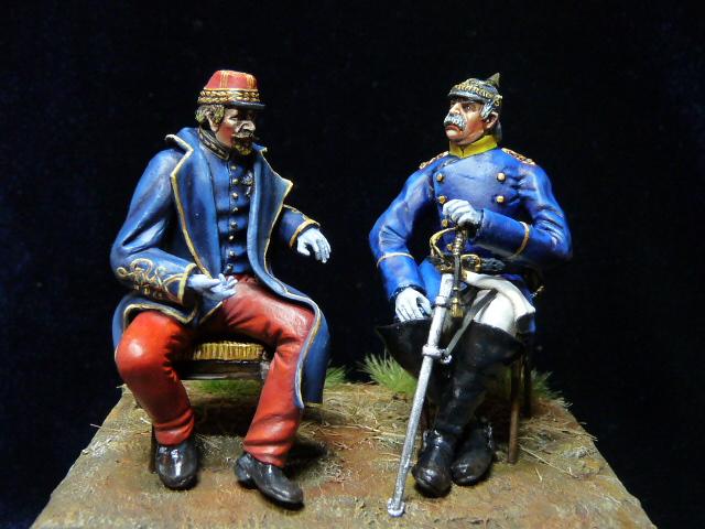 Napoléon III et Bismarck à Donchery (Peinture) par BONO (FINI) P1060510