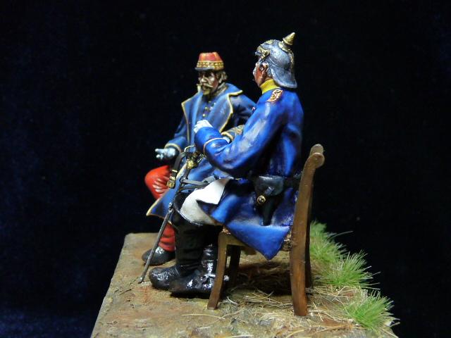 Napoléon III et Bismarck à Donchery (Peinture) par BONO (FINI) P1060511