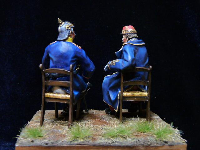 Napoléon III et Bismarck à Donchery (Peinture) par BONO (FINI) P1060512