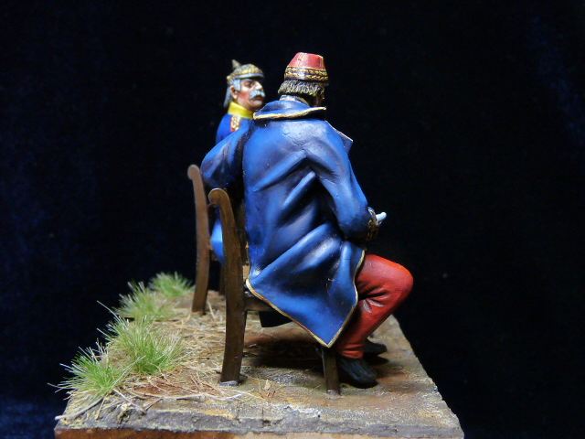 Napoléon III et Bismarck à Donchery (Peinture) par BONO (FINI) P1060513